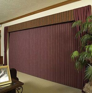 Burgundy Vertical Blinds