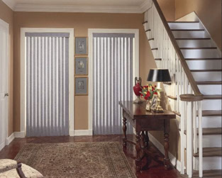 Dual Window Vertical Blinds