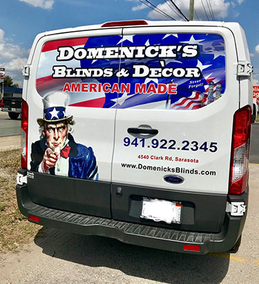 Domenick's Blinds & Decor Van